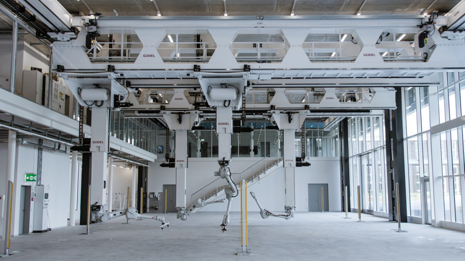 Interior perspective Robotic Fabrication Lab